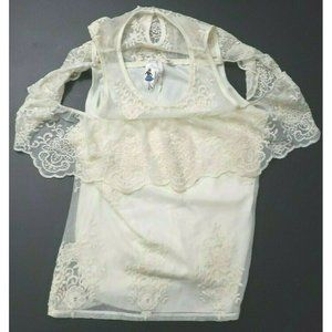 Society Girl Womens Blouse Cold Shoulder Lace Trim
